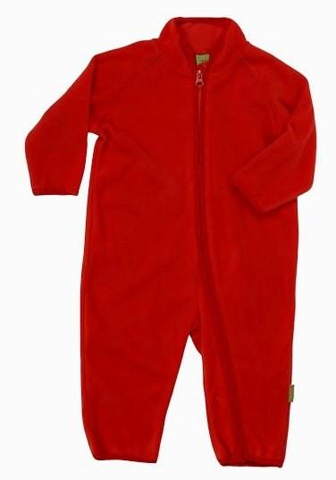 Celavi Baby Fleece-Overall rot