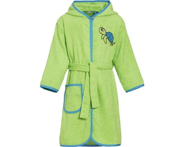 Frottee Kinder Bademantel Schildkröte apfelgrün
