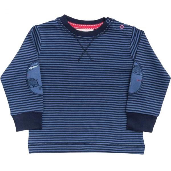 Langarmshirt blau Ringelstreifen Biobaumwolle