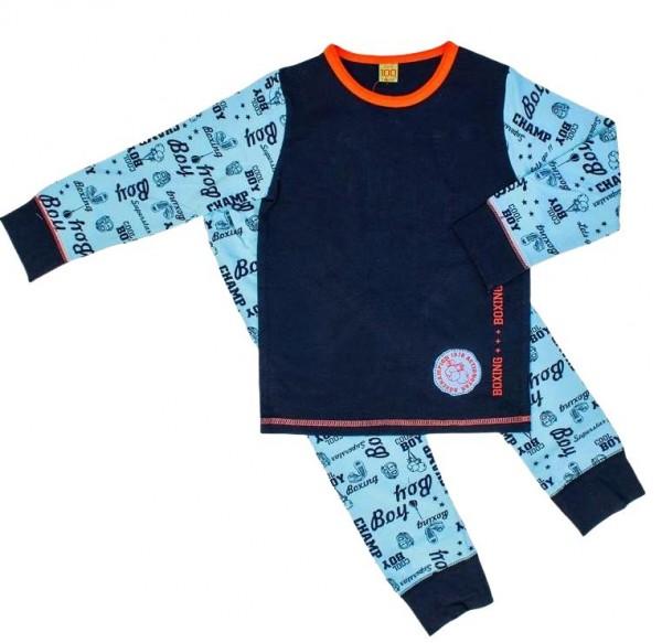 Celavi Pyjama Schlafanzug 2 Teiler für Jungen blau/sky Boy