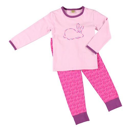 Celavi Mädchen Schlafanzug 2 Teiler Pyjama rosa pink mit Hase