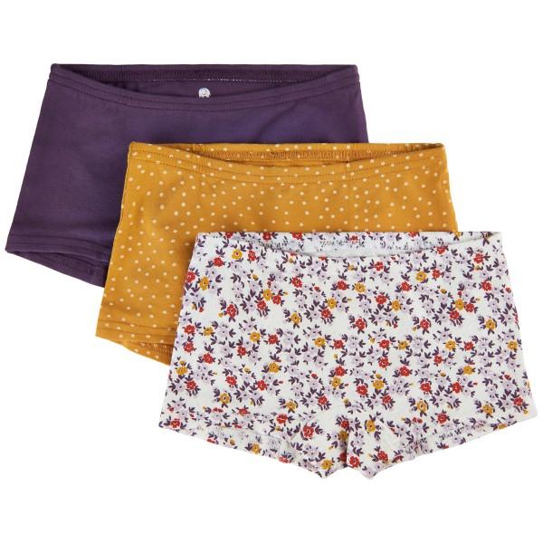 Celavi Mädchen Hipster Pants Flower Dots Unterhosen 3er Pack