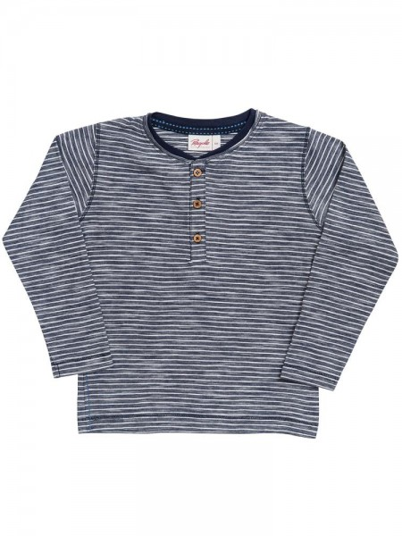 People wear Organic Langarmshirt blau geringelt GOTS