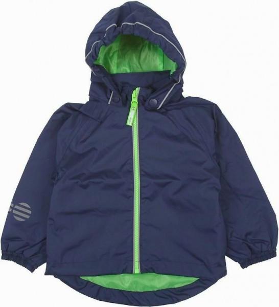 Minymo Kinder Regenjacke navy/green blau atmungsaktiv