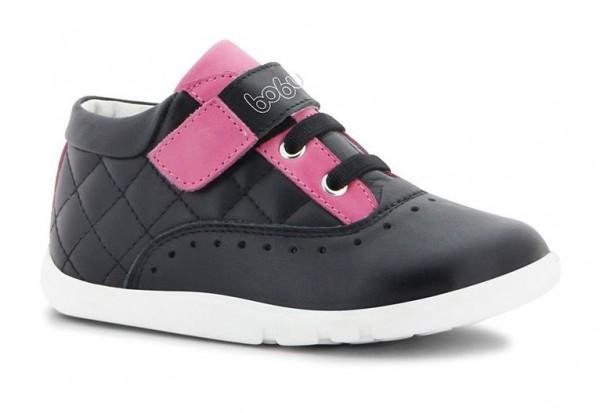 Bobux TETRA schwarz/pink Mädchenschuhe i-walk Klettverschluß