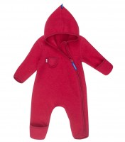 Finkid PUKU WOOL Wollfleece Overall cabernet/persian red