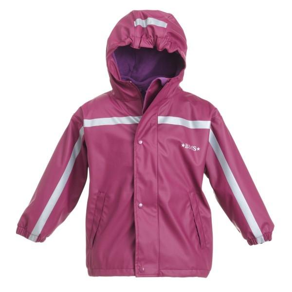 BMS Thermo Regenjacke purple mit Zip-In Fleecejacke 2in1