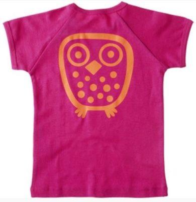 Ej sikke Lej Kinder T-Shirt pink Big Owl