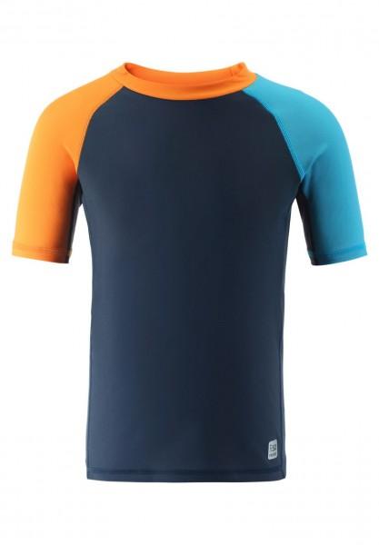 Reima Kinder UV Schwimmshirt Dalupiri navy/orange UV-Schutz 50
