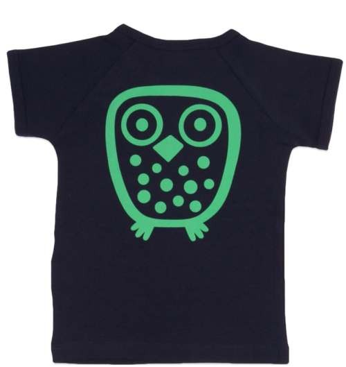Ej sikke Lej Kinder T-Shirt Big Owl Basic navy