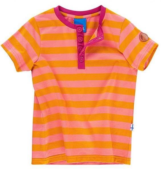 Finkid TIKKARI gold/coral Mädchen T-Shirt Blockstreifen