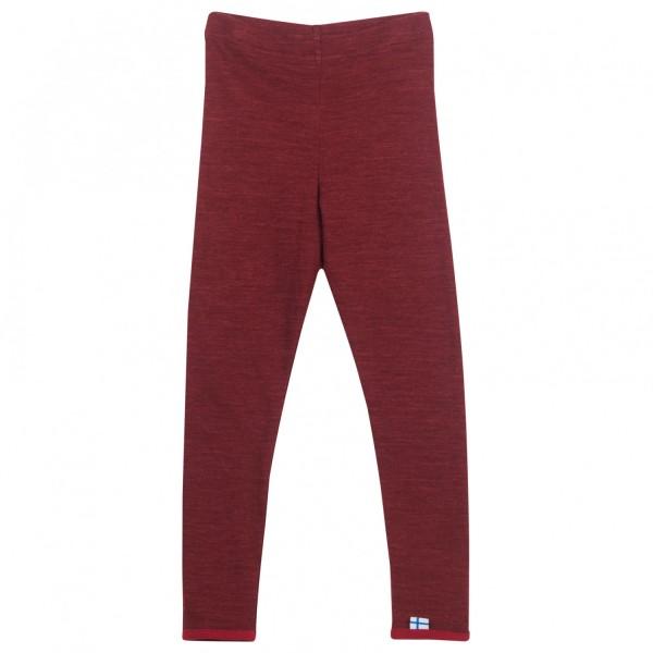 Finkid LEIKKI WOOL cabernet/persian red Leggins lange Unterhose
