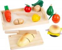 Schneide Frühstück Brot + Schneidegemüse aus Holz