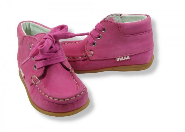 Develab Lauflernschuhe Leder extra weich Mokassins fuchsia pink
