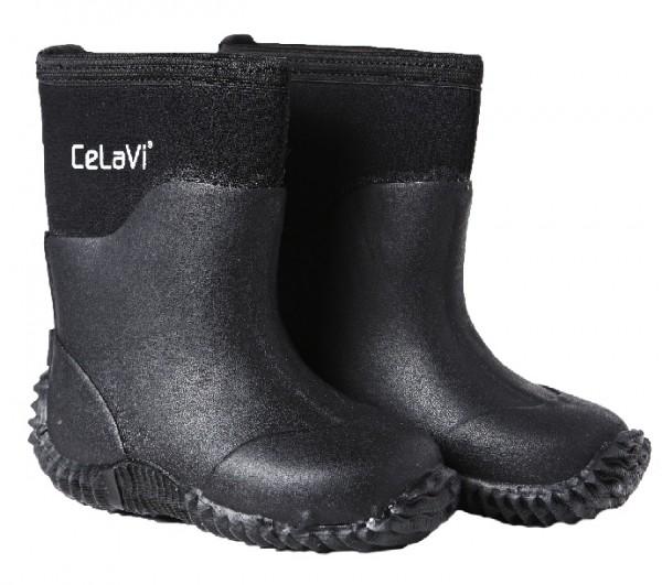 CeLaVi schwarz Neopren Gummistiefel Boots