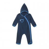 Finkid PUKU WOOL navy/nautic Wollfleece Overall