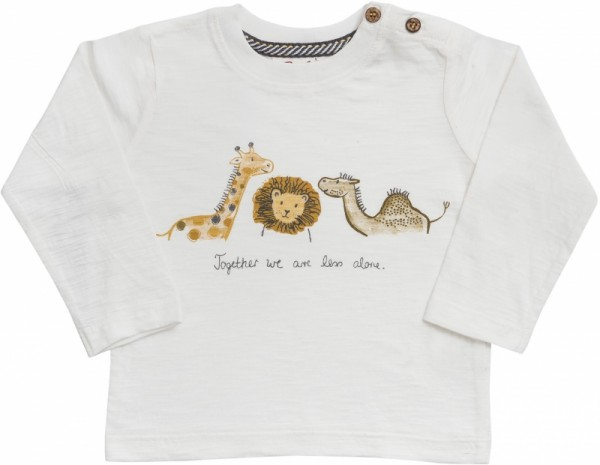People wear Organic Langarm Shirt wilde Tiere weiß