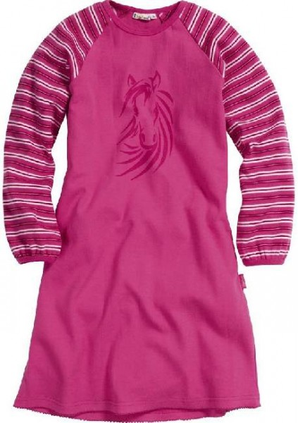 Mädchen Jersey Nachthemd pink Pferd