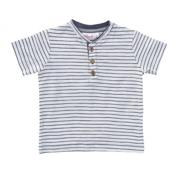 People Wear Organic Ringel T-Shirt grau/naturweiß Kurzarm