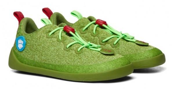 Affenzahn Kinder Barfußschuhe Knit Drache grün Vegan