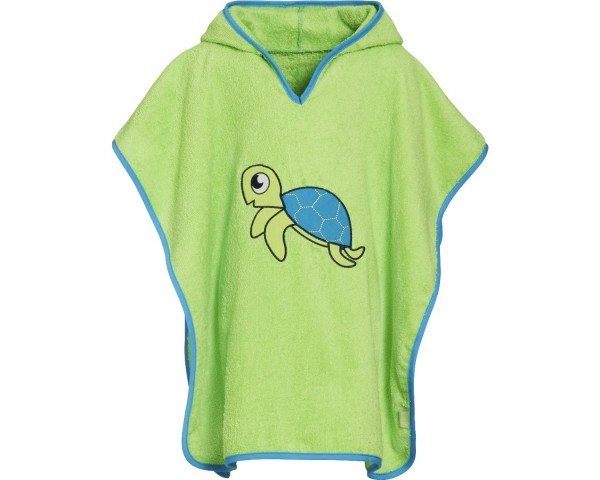 Kinder Badeponcho grün Schildkröte Kapuzen Badeumhang Ökotex100