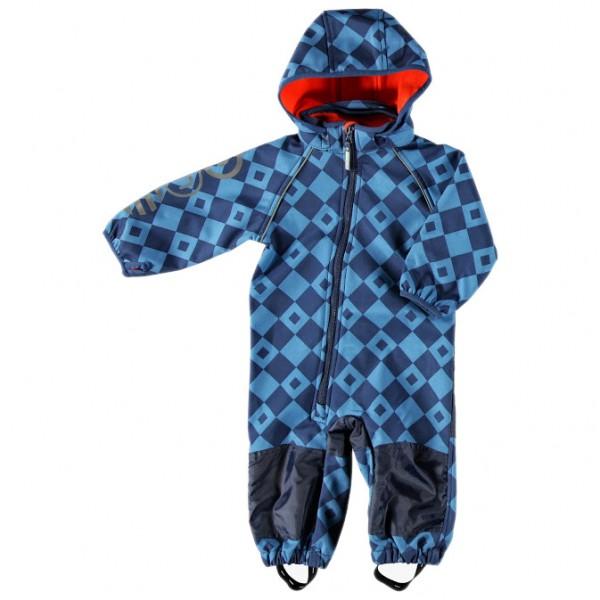 Minymo Softshellanzug Now44 Dark blue türkis Retro Matschoverall atmungsaktiv
