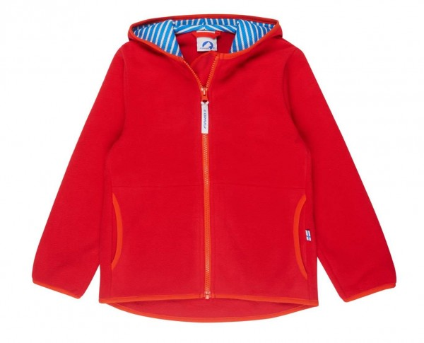 Finkid Paukku red/grenadine Essential Fleecejacke Zip in Jacke