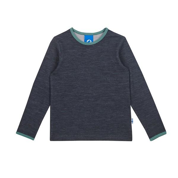 Finkid TAAMO WOOL graphit/trellis Langarmshirt mit Wolle