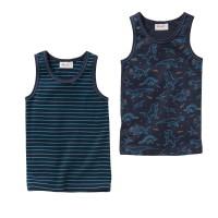 People Wear Organic Jungen Unterhemd dunkelblau