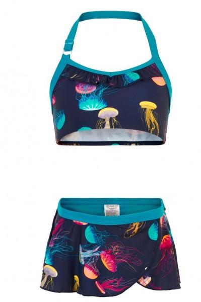 Color Kids TRACY Mädchen UV-Schutz Bikini mit Quallen-Motiv