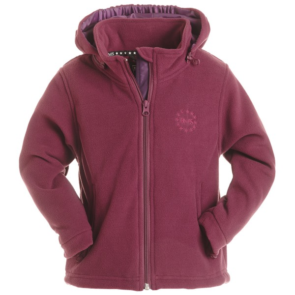 BMS Fleecejacke beere Antarctic-Fleece mit Kapuze