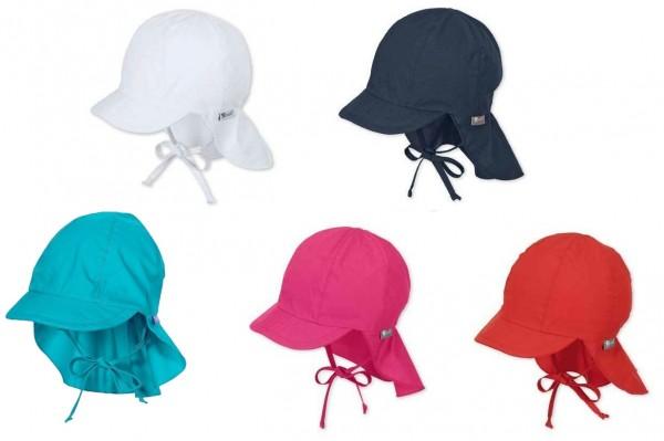 Sterntaler Schirmmütze mit Nackenschild und Bändel