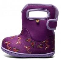 BOGS Baby Bogs lila Butterfly Mädchen Winterstiefel für Laufanfänger