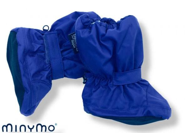 Minymo Nylon Thermo Booties - gefütterte Stiefelchen Hit55 limoges blau