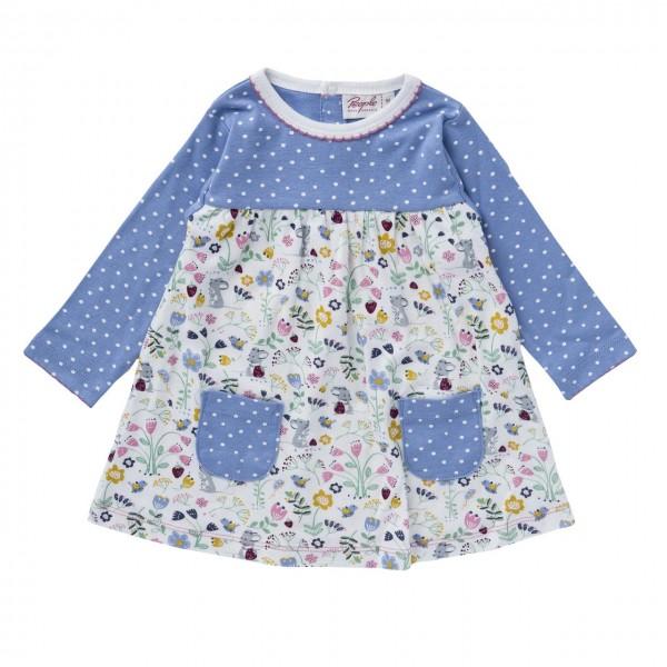 Mädchen Jerseykleid Wiesenblumen Bio-Baumwolle