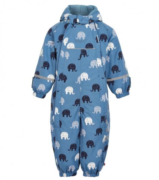 Celavi Schneeoverall rauchblau mit Elefanten