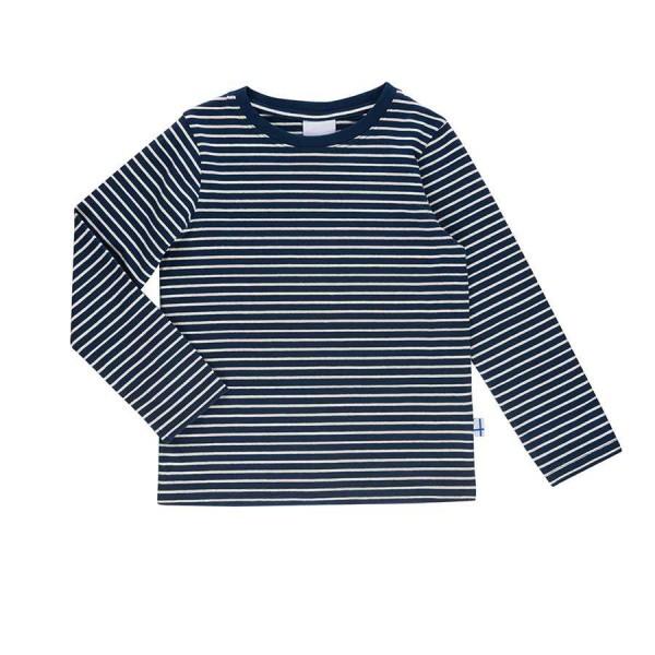 Finkid Sampo Langarmshirt geringelt navy/offwhite