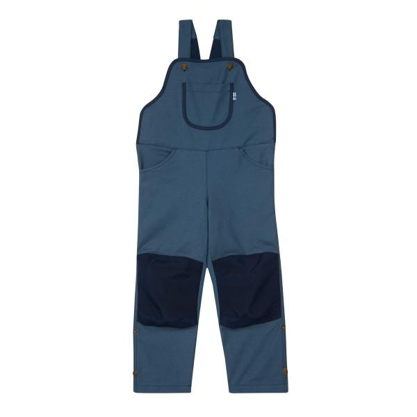 Finkid Loiri Canvas blue mirage/navy Latzhose Turn-Up