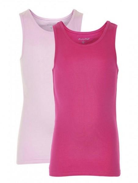 Minymo Mädchen Unterhemden rosa/pink 2er Pack Unterwäsche Basic62