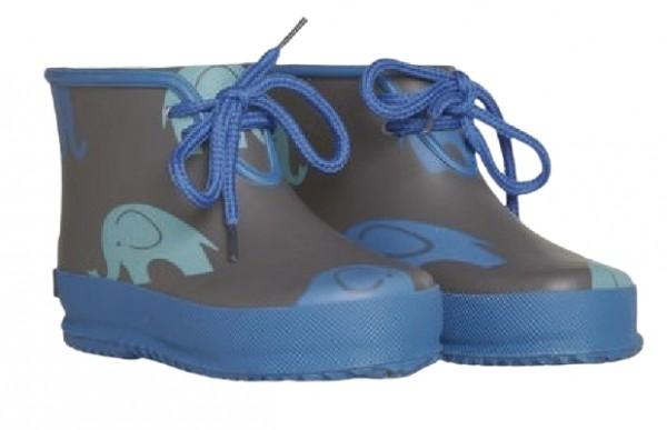 CeLaVi Regen Booties grau/blau Elefant Kurzschaft Gummistiefel Kautschuk