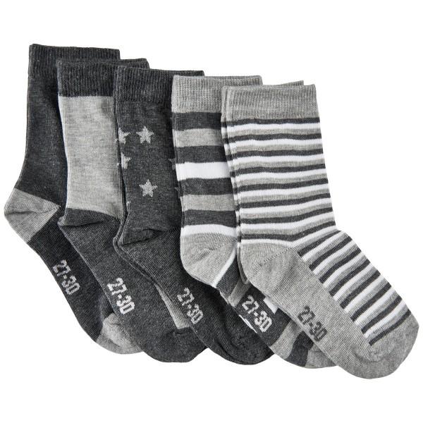 Minymo Kinder Söckchen 5er Pack grau melange Socken