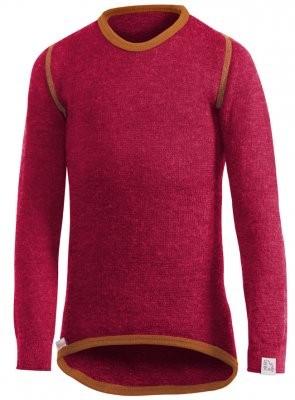Woolpower Langarm Funktionsshirt rot Unterhemd Crewneck 200 Wolle Ökotex100