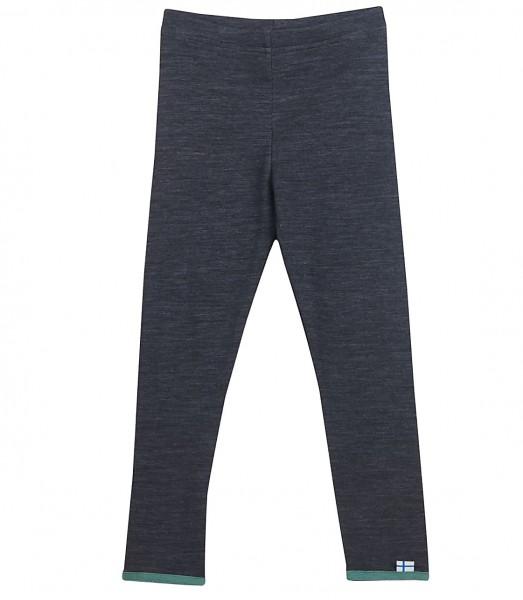 Finkid LEIKKI WOOL graphit/trellis Leggins lange Unterhose