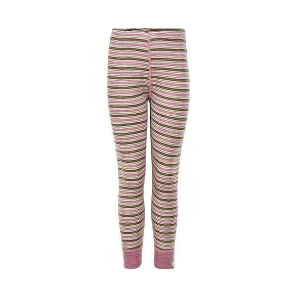 Celavi Mädchen Leggings rosa/natur geringelt Wonder Wollies Merinwolle