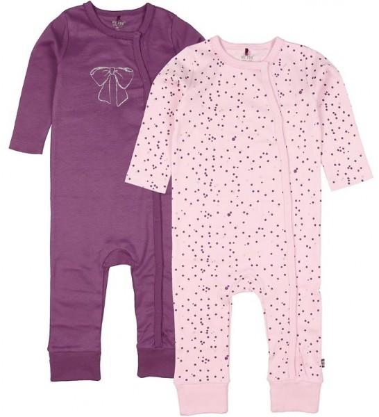 MeToo Baby Schlafanzüge lilac/rose 2er Pack Organic Baumwolle GOTS