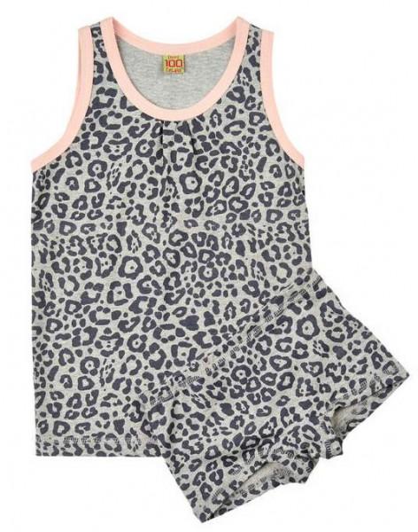 Celavi Mädchen Unterwäsche 2 Teiler Leopard