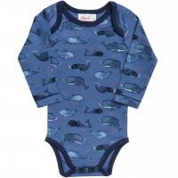 People Wear Organic Langarm-Body WALE blau