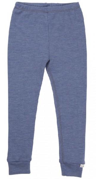 Celavi Legins blau melange lange Unterhose Merino Schurwolle Ökotex100