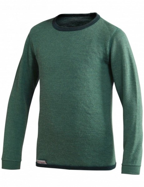 Woolpower Kinder Wollshirt farngrün Unterhemd Crewneck 200