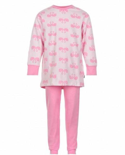 Celavi Mädchen Schlafanzug rosa Schwäne